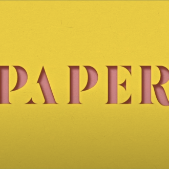 3D Paper Cut-Out Text Effect in Adobe InDesign