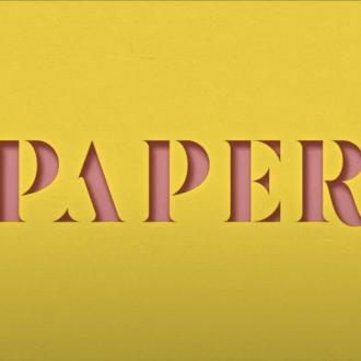 3D Paper Cut-Out Text Effect