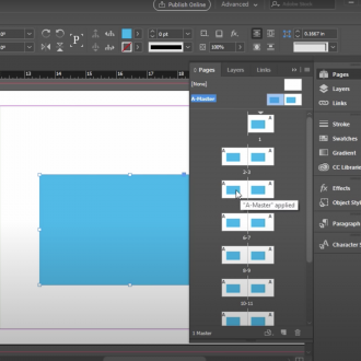 Using Master Pages in InDesign