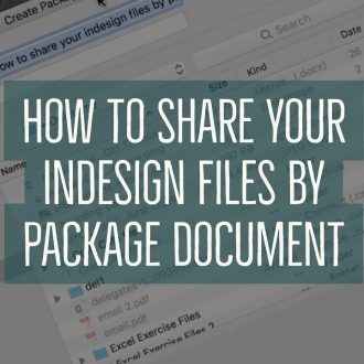 How to Package InDesign files