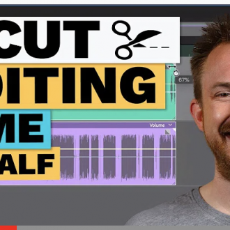 Cut audio editing time in half!