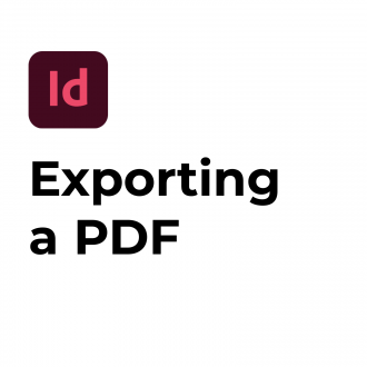 Exporting a PDF